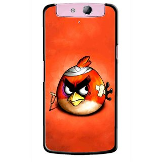 Snooky Printed Wouded Bird Mobile Back Cover For Oppo N1 Mini - Red