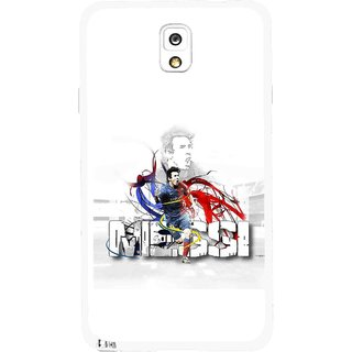 Snooky Printed Messi Mobile Back Cover For Samsung Galaxy Note 3 - Multicolour