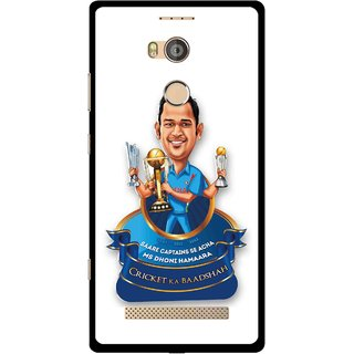 Snooky Printed Cricket Ka Badshah Mobile Back Cover For Gionee Elife E8 - Multicolour