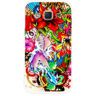 Snooky Printed Horny Flowers Mobile Back Cover For Samsung Galaxy j2 - Multicolour