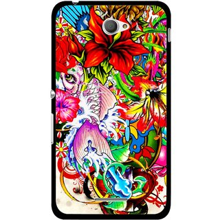 Snooky Printed Horny Flowers Mobile Back Cover For Sony Xperia E4 - Multicolour