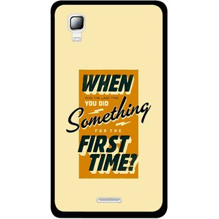 Snooky Printed First Time you Did Mobile Back Cover For Micromax Canvas Doodle 3 A102 - Yellow