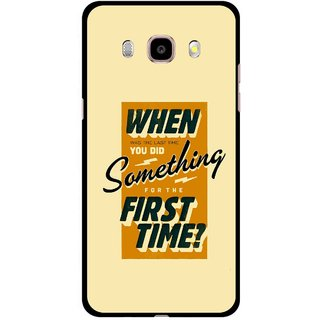 Snooky Printed First Time you Did Mobile Back Cover For Samsung Galaxy J5 (2017) - Yellow