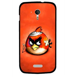 Snooky Printed Wouded Bird Mobile Back Cover For Micromax A116 - Red