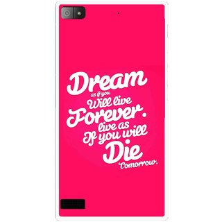 Snooky Printed Live the Life Mobile Back Cover For Blackberry Z3 - Multi