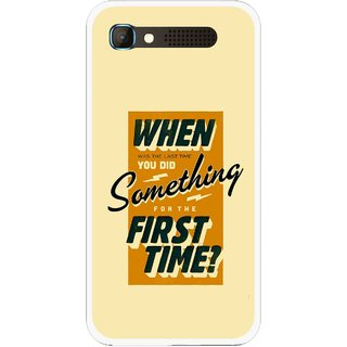 Snooky Printed First Time you Did Mobile Back Cover For Intex Aqua Y2 Pro - Yellow