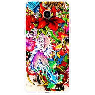 Snooky Printed Horny Flowers Mobile Back Cover For Samsung Galaxy J5 (2017) - Multicolour