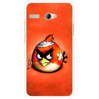 Snooky Printed Wouded Bird Mobile Back Cover For Intex Aqua 3G Pro - Red
