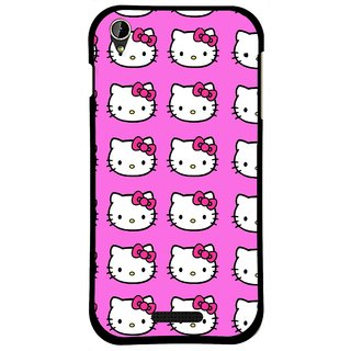 Snooky Printed Pink Kitty Mobile Back Cover For Lava X1 Mini - Multi