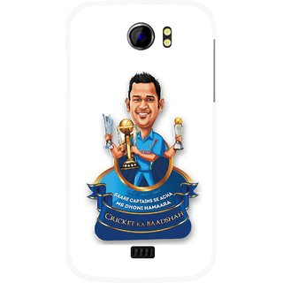 Snooky Printed Cricket Ka Badshah Mobile Back Cover For Micromax Canvas 2 A110 - Multicolour