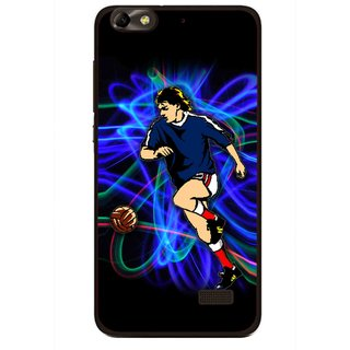 Snooky Printed Football Passion Mobile Back Cover For Huawei Honor 4C - Multi