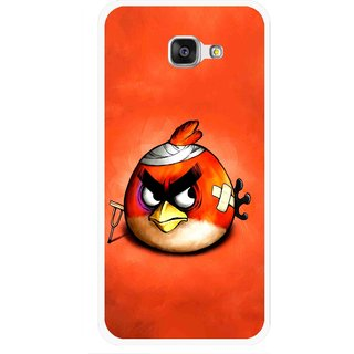Snooky Printed Wouded Bird Mobile Back Cover For Samsung Galaxy A7 2016 - Red