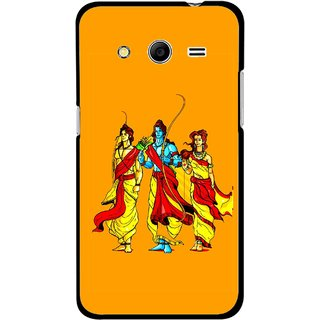 Snooky Printed God Rama Mobile Back Cover For Samsung Galaxy G355 - Orrange