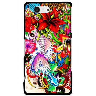 Snooky Printed Horny Flowers Mobile Back Cover For Sony Xperia Z3 Compact - Multicolour