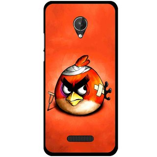 Snooky Printed Wouded Bird Mobile Back Cover For Micromax Canvas Spark Q380 - Red