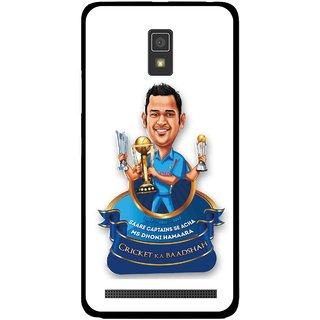 Snooky Printed Cricket Ka Badshah Mobile Back Cover For Lenovo A6600 - Multicolour