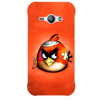 Snooky Printed Wouded Bird Mobile Back Cover For Samsung Galaxy Ace J1 - Red