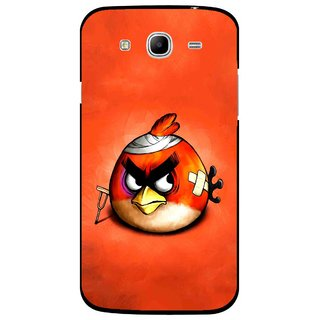 Snooky Printed Wouded Bird Mobile Back Cover For Samsung Galaxy Mega 5.8 - Red