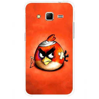 Snooky Printed Wouded Bird Mobile Back Cover For Samsung Galaxy Core Prime - Red
