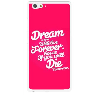 Snooky Printed Live the Life Mobile Back Cover For Gionee Elife S6 - Multi