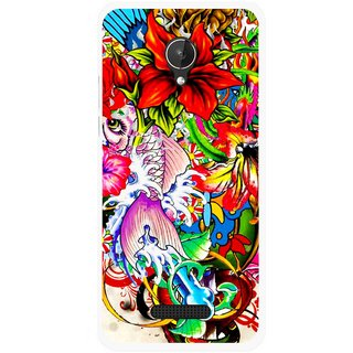 Snooky Printed Horny Flowers Mobile Back Cover For Micromax Canvas Spark Q380 - Multicolour