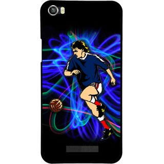 Snooky Printed Football Passion Mobile Back Cover For Lava Iris X8 - Multi