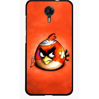 Snooky Printed Wouded Bird Mobile Back Cover For Micromax Canvas Xpress 2 E313 - Red