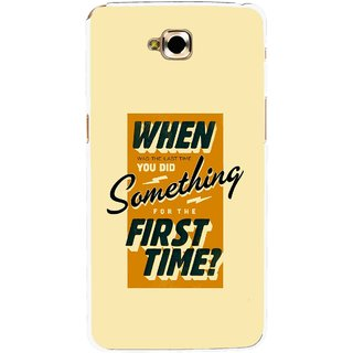 Snooky Printed First Time you Did Mobile Back Cover For Lg G Pro Lite - Yellow