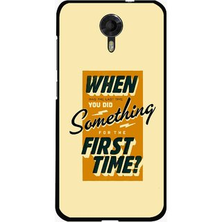 Snooky Printed First Time you Did Mobile Back Cover For Micromax Canvas Xpress 2 E313 - Yellow