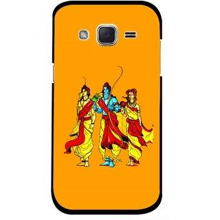 Snooky Printed God Rama Mobile Back Cover For Samsung Galaxy j2 - Orrange