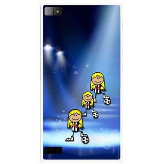 Snooky Printed Girls On Top Mobile Back Cover For Blackberry Z3 - Multi