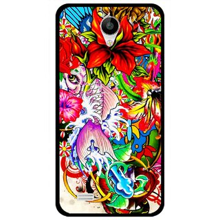 Snooky Printed Horny Flowers Mobile Back Cover For Vivo Y22 - Multicolour