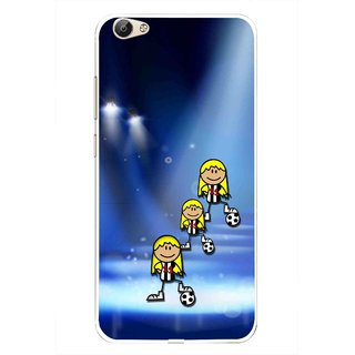 Snooky Printed Girls On Top Mobile Back Cover For Vivo Y55 - Multi