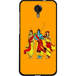 Snooky Printed God Rama Mobile Back Cover For Micromax Canvas Xpress 2 E313 - Orrange