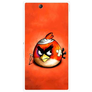 Snooky Printed Wouded Bird Mobile Back Cover For Sony Xperia Z Ultra - Red