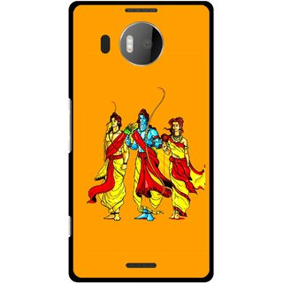 Snooky Printed God Rama Mobile Back Cover For Microsoft Lumia 950 XL - Orrange