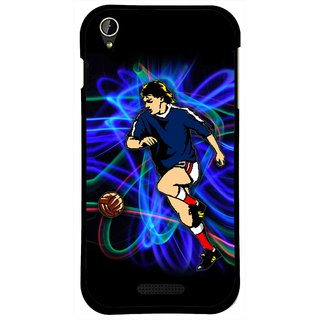 Snooky Printed Football Passion Mobile Back Cover For Lava X1 Mini - Multi