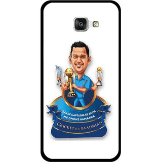 Snooky Printed Cricket Ka Badshah Mobile Back Cover For Samsung Galaxy A7 2016 - Multicolour