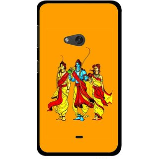 Snooky Printed God Rama Mobile Back Cover For Nokia Lumia 625 - Orrange