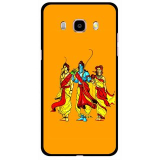Snooky Printed God Rama Mobile Back Cover For Samsung Galaxy J5 (2017) - Orrange