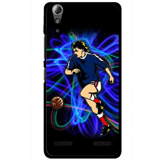 Snooky Printed Football Passion Mobile Back Cover For Lenovo A6000 - Multi