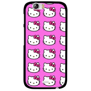 Snooky Printed Pink Kitty Mobile Back Cover For Micromax Canvas Turbo A250 - Multi