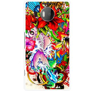 Snooky Printed Horny Flowers Mobile Back Cover For Microsoft Lumia 950 XL - Multicolour