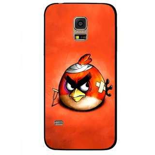 Snooky Printed Wouded Bird Mobile Back Cover For Samsung Galaxy S5 Mini - Red