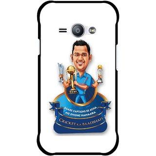 Snooky Printed Cricket Ka Badshah Mobile Back Cover For Samsung Galaxy Ace J1 - Multicolour