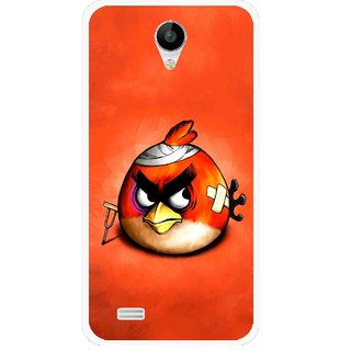 Snooky Printed Wouded Bird Mobile Back Cover For Vivo Y22 - Red