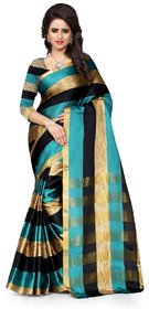 GANGA SHREE self design women's choice new design cotton banarsi silk saree with blouse