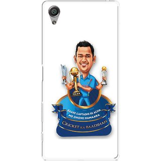 Snooky Printed Cricket Ka Badshah Mobile Back Cover For Sony Xperia X - Multicolour