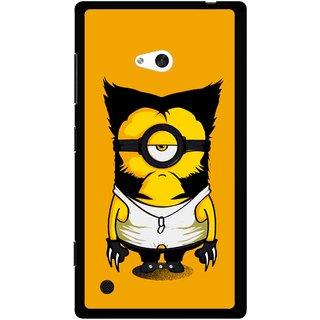 Snooky Printed One Eye Mobile Back Cover For Nokia Lumia 720 - Orange