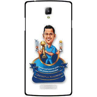 Snooky Printed Cricket Ka Badshah Mobile Back Cover For Oppo Neo 3 R831k - Multicolour